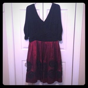 Black/Wine Red Dress
